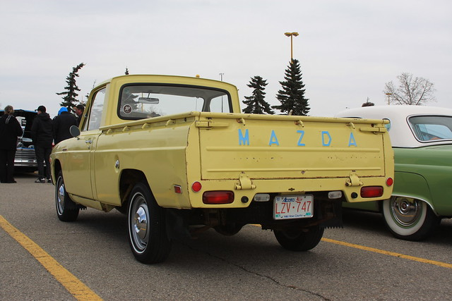 classic yellow truck japanese pickup 1975 mazda bseries b1800