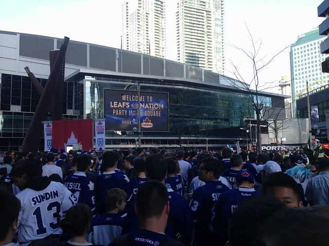 Leafs nation is assembling.