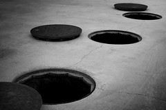 circles (Thomas Leth-Olsen) Tags: bw concrete harbour circles shapes holes blackholes urbanabstract