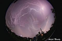 Thunder storm over Jorpukurpar (AvijitNandy) Tags: thunderstorm canon1dmarkiv canon815f4fisheye