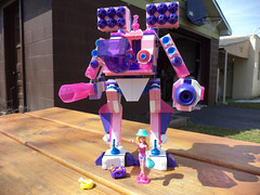 Barbie's Apocryphal Dream Mech (Orrex) Tags: lego barbie megabloks mecha mech mocs moc bloks