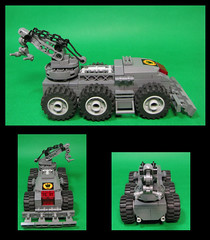 Recovery and removal Unit (Karf Oohlu) Tags: lego vehicle towtruck afv moc armouredvehicle microscale recoveryvehicle