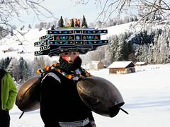 Silvesterklaus with the typcial hat (Markus CH64) Tags: st schweiz nikon sylvester kultur klaus mummers markus appenzell brauchtum waldstatt 2013 ch64 ausserrhoden d3s silvesterkluse silvesterklaus silvesterchlaus