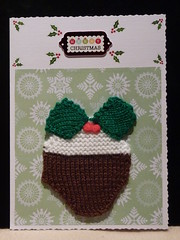 121126 1 Knitted Christmas Card ( Claire ) Tags: christmas knitting knit pudding craft card kit knitted crafting christmaspudding christmascard crafted knitola