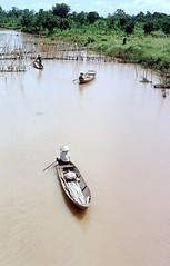 Typical Canal Scene (Gene Whitmer) Tags: canal vietnam 1972 sampan riverboats dinhtuong