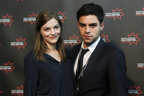 Amber Anderson and Sean Teele at the We Are The Freaks photocall