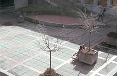 West Mall Courtyard 3 (jvde) Tags: 3570mmf3345nikkor burnaby coolscan film nikon nikonf601 sfu gimp