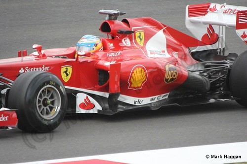 Fernando Alonso in Free Practice 2 at the 2013 British Grand Prix