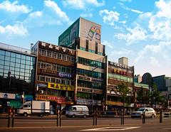 Somewhere in Seoul... (Arutemu) Tags: city urban asian daylight asia cityscape view ciudad korea korean seoul daytime southkorea ville hangul        eos50d