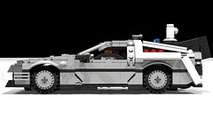 LEGO Back To The Future DeLorean Time Machine (BTTF 2) (LegoNoitAllMocs) Tags: car model lego time render machine build delorean flyingcar dmc backtothefuture hover moc buildingtoys backtothefuturepart2