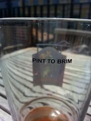 Pint to brim (blondinrikard) Tags: beer glass glasses pint glas l