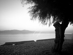 Golf of Corinth (Cärö) Tags: water blackwhite corinth greece iphonography