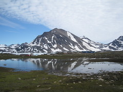 Greenland. (VERUSHKA4) Tags: life travel blue summer sky cloud white house mountain lake snow reflection ice nature water beautiful montagne canon denmark island amazing europe day view place july explore ciel shore greenland favourite blanc vue biggest outstanding northcountry kulusuk