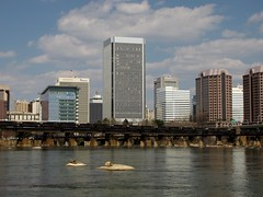 Richmond skyline (SchuminWeb) Tags: road plaza trestle bridge sky building tower water lines skyline buildings river t james virginia march high track ben district web towers norfolk tracks bridges skylines reserve twin bank rail front structure richmond system line southern va transportation highrise infrastructure belle twintowers riverfront roads mead rise isle federal infra structural rises banking highrises railroads rva westvaco csx federalreservebank federalreserve trestles meadwestvaco 2013 riverfrontplaza mwv federalreservesystem infrastructural schumin schuminweb