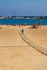 The Beach. Costa Caleta de Fuste Fuerteventura (CWhatPhotos) Tags: pictures blue sea sky costa sun holiday hot beach marina canon way that de lens boats photography eos golden bay boat wooden spain sand warm skies foto view angle image artistic time harbour pics path walk sandy fuerteventura picture sunny pic images september have photographs photograph walkway fotos 7d manmade sands sept canaries which contain hol caleta 2013 fuste cwhatphotos