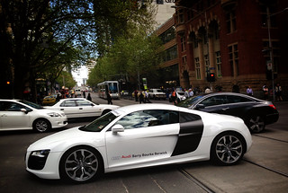 Audi R8 in town