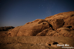Wadi Rum, Jordan - Moonlight In The Valley Of The Moon (GlobeTrotter 2000) Tags: travel sunset camp vacation moon lighthouse tourism night way stars landscape arch desert wadirum petra visit jordan camel valley moonlight rum milky wadi bedouin vision:mountain=080