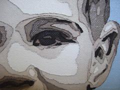 "Waylon ""detail view"" (Peggy Dembicer) Tags: original portrait eye art creativity design diy artwork paint child faces artistic handmade embroidery mixedmedia unique creative craft surfacedesign ear create fiberart fiber stitched doityourself oilpaint craftsmanship studioart dembicer connecticutartist peggycorallo"