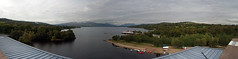 Loch Lomond Panorama (stuballscramble) Tags: uk blue sky panorama mountain water clouds scotland view ben hill loch benlomond balloch lochlomond lomondshores drumkinnontower