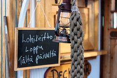 Sold out (rlanvin) Tags: lamp sign suomi finland boat helsinki ship rope