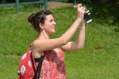 Iguazu Falls (Lou Morgan) Tags: camera brazil argentina girl mobile america phone south cell falls teen photograph seven waterfalls latin iguazu wonders teenage