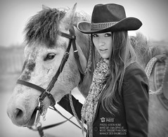 Ranch Girl (Ben Heine) Tags: life ranch light horse music woman usa inspiration france art nature girl beauty hat animal sport fog composition canon hair fun outside cheval happy photography freedom model friend pretty play friendship guitar live free hobby melody jeans beaut instrument prints leisure canon5d editing cowgirl backstage freetime pure discovery postproduction pleasure amiti guitare camargue farwest loisir benheine ranchgirl tourdefrancephoto paulinephandong benheinephoto benheineprints
