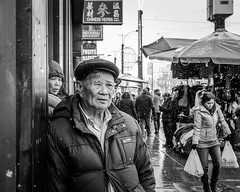 (Fryderyk Supinski) Tags: street portrait toronto ontario canada 35mm chinatown canadian snowing oneeyedman d7000