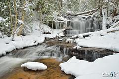 Winter at Wagner Falls Munising, Michigan (Michigan Nut) Tags: winter usa snow ice nature river landscape waterfall stream michigan scenic waterfalls snowscape wagnerfalls johnmccormick michigannutphotography