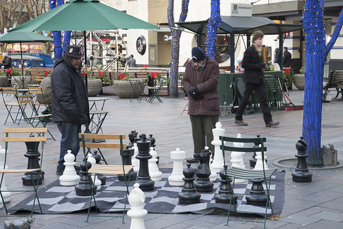 Huge Chess and Deep Thinking Men, Seattle