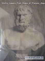 Giulio Cesare Prati Busto di Platone disegno a matita 62,5x47cm 1885-87 Collezione privata