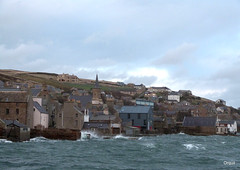 A Stormy Christmas Eve (orquil) Tags: uk houses winter islands scotland orkney december waves harbour piers stormy gale spray christmaseve winds stromness slips