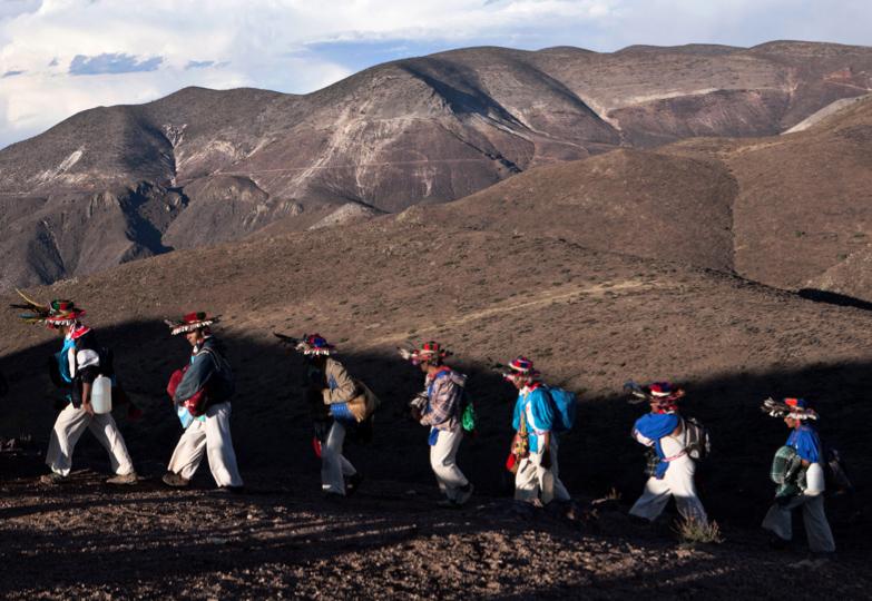 Wixárika walking to Wirikuta.
