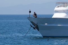 "_DSC6296 ""the cameraman"" and the  ""Female Magnificent Frigatebird"" (ChanHawkins) Tags: boat punta april 12 magnificent fernandina fri espinoza thecameraman ""female pm"" ""galapagos frigatebird"""