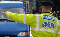 Garda Traffic Corps (CROP) (Cian Ginty) Tags: dublin bus green cars college cycling gate garda traffic transport police motor publictransport ban 2008 collegegreen buslane gardai motorists gardasiochana irishpolice busgate gardasochna