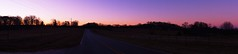 Sunrise Panoramas (TylerMurrayPhotography) Tags: road street pink trees red panorama orange sun lines sunrise fence georgia purple sony country pasture fields a65