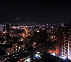 Moonrise over Dhanmondi (Testarossa Autodrive) Tags: longexposure night cityscape moonrise dhaka bangladesh dhanmondi canon550d