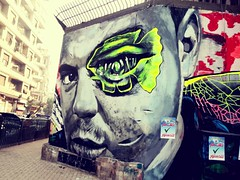 Mohamed Mahmoud street in Cairo (Noha Tammam) Tags: photography graffiti sketch drawing egypt cairo 25 revolution