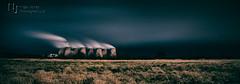 Power After Dark (Nigel Jones QGPP) Tags: sky storm analog dark smoke steam powerstation coolingtowers ratcliffeonsoar nikefex efex powewr