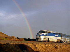 train photo rainbow image picture cellphone railway... (Photo: VenturaMermaid on Flickr)