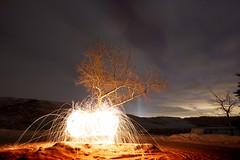 Go Canada (John Andersen (JPAndersen images)) Tags: canada calgary night fire alberta olympics steelwool bighillsprings spinningsteelwoolfire calgarynightphotographers burningglobe
