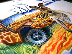 process of an endless book (olhamoiseienko) Tags: travel summer art painting sketch graphics drawing creative australia sketchbook coloredpencils          endlessbook anendlessbook