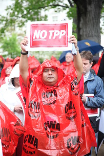 From flickr.com/photos/79684288@N00/13946044660/: Rally To Oppose the Trans Pacific Partnership Trade Deal
