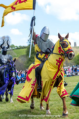 [2014-04-19@13.23.31a] (Untempered Photography) Tags: horse history animal costume flag helmet medieval knight tor joust armour reenactment jousting combatant chainmail lists glastonburytor canonef50mmf14 perioddress platearmour theknightsofthedamned mailarmour untemperedeye canoneos5dmkiii untemperedeyephotography glastonburymedievalfayre2014