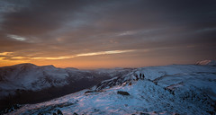 4 men and 3 Dogs (JJFET) Tags: dale head lake district winter sunset snow buttermere valley