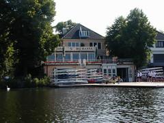 Bootshaus vom Wasser aus