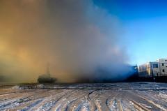 DSC_7107 (stefpix) Tags: winter ice fire freeze williamsburg firefighter fdny