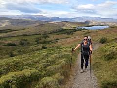 Jess en plein trekking