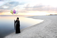 Take Me To The Land Of Dreams.... (akal_flickr) Tags: portrait water female surrealism ballons innamoramento