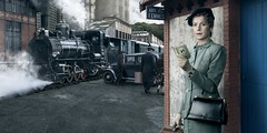 Madeleine Henriot (blaisearnold.net) Tags: portrait france train vintage french smoke