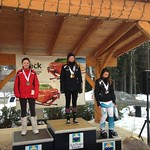 Sun Peaks Teck Okanagan Zone U14 GS - Women's Overall Podium on Sunday - 1 KERSEY, Makena (Vernon Ski Club); 2 DAVIES, Kayley (Apex Ski Club); 3 LOCKWOOD, Emma (Vernon Ski Club)